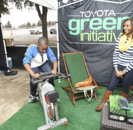 Toyota Scores Touchdown Sustainably and Healthfully