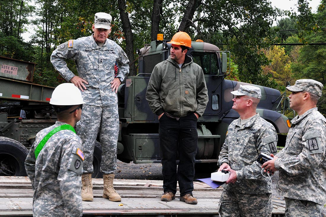 New York Army Guard engineers clear streams to prep for hurricane
